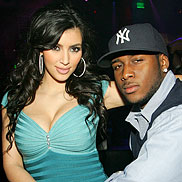 Kim Kardashian and Reggie Bush Meet Bridal Gown Goddess