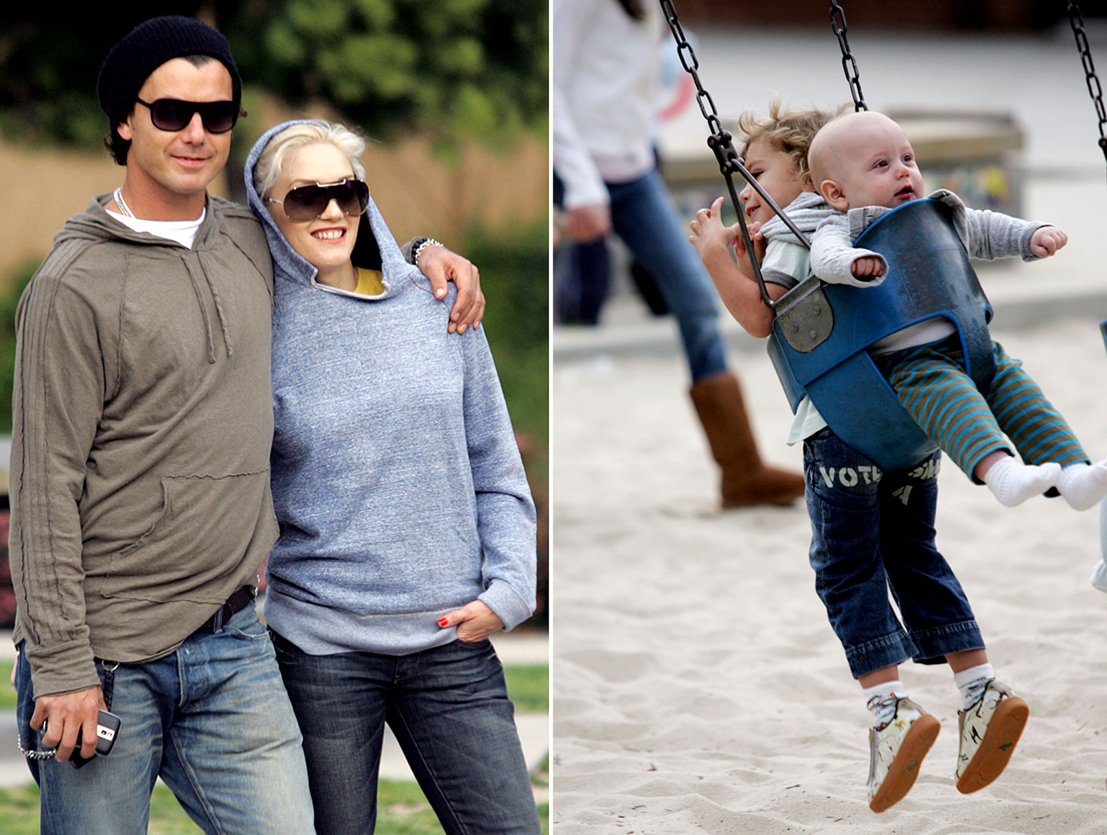 Gwen Stefani and Family Get Into The Swing of Things