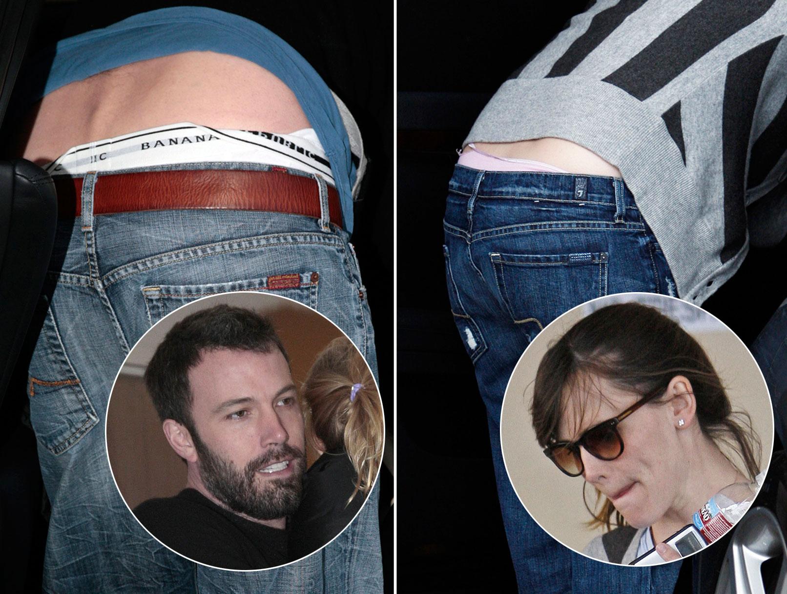 Jennifer Garner Ben Affleck flashing underwear