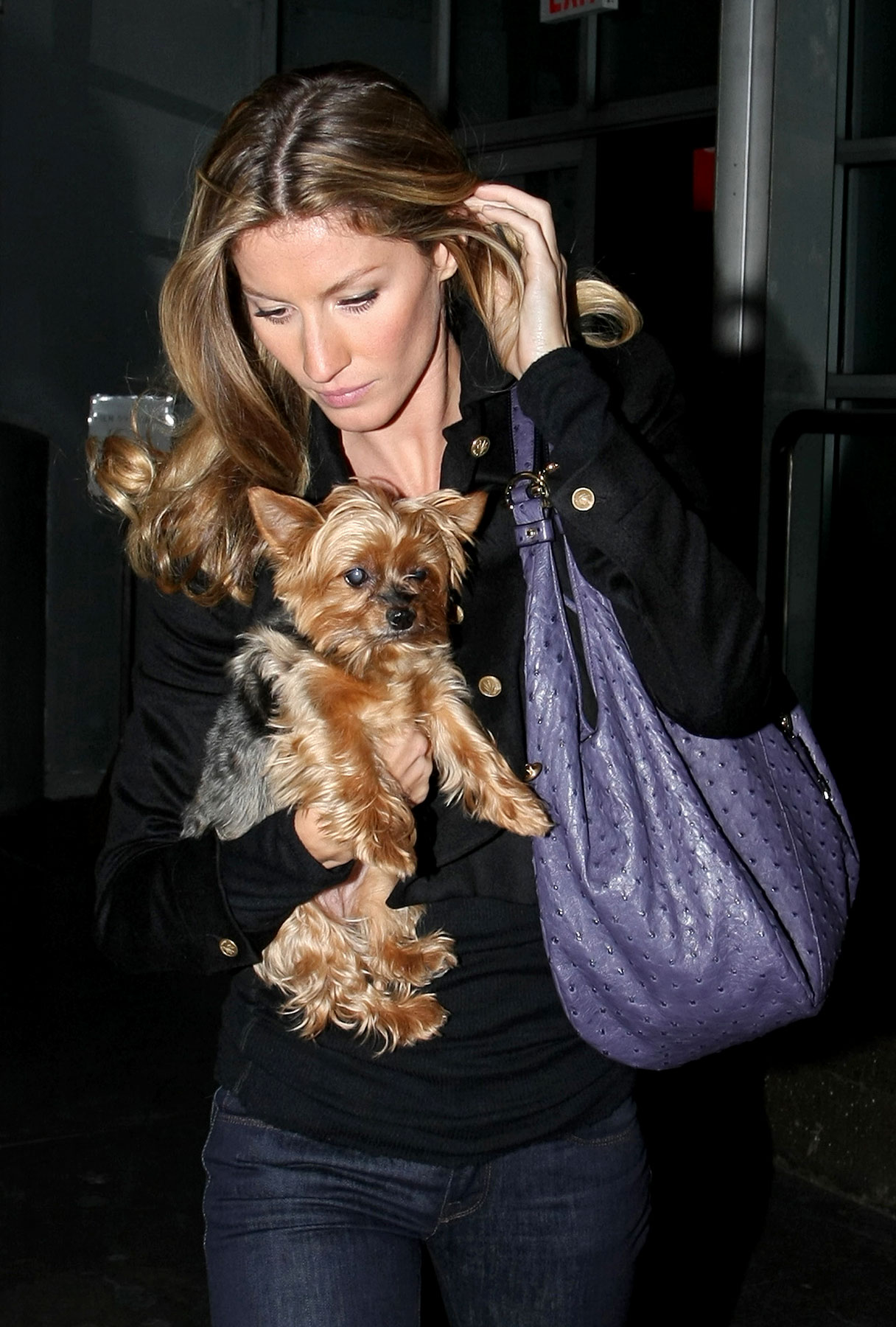 Gisele Bundchen—and Her Little Dog, Too