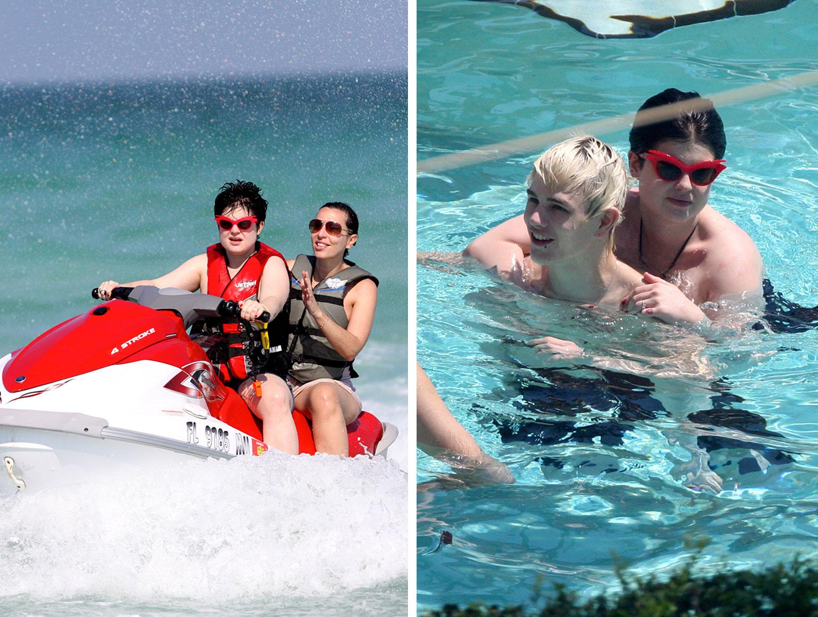 Kelly Osbourne Gets Wet With Luke Worrall