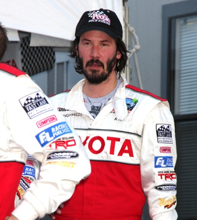 VIDEO: Keanu Reeves Gets His Motor Running