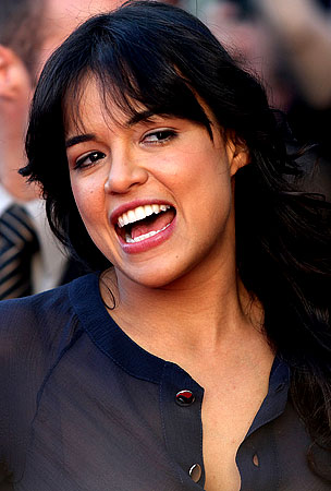 Michelle Rodriguez Is a Fun Wedding Guest
