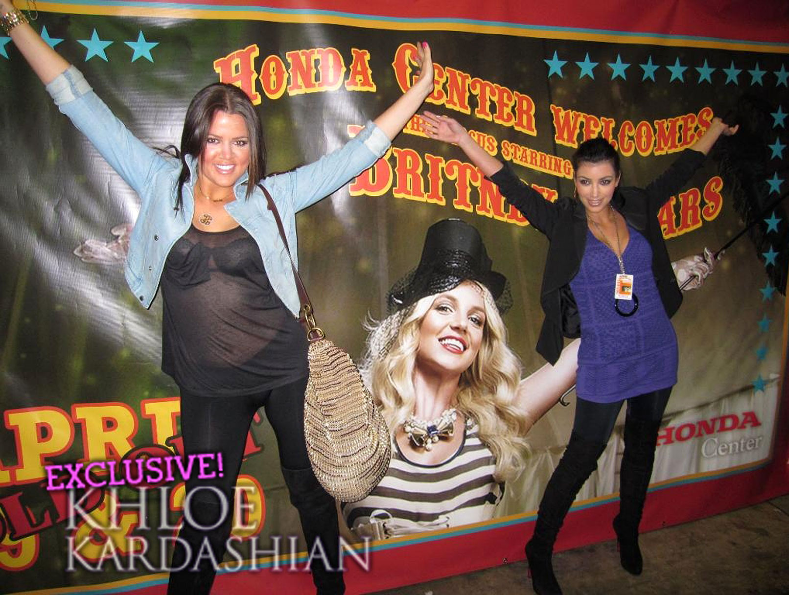 Khloe Kardashian Gets up in Arms at Britney Spears Concert