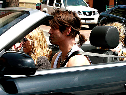 Miley Cyrus: Back In California and Justin Gaston's Car