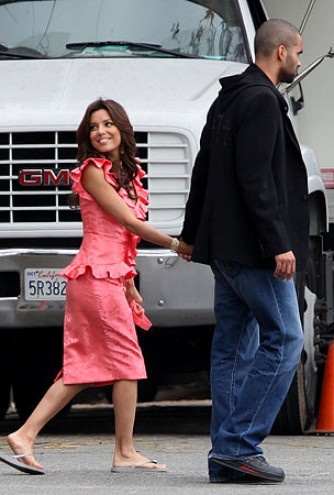 "Eva Longoria Celebrates ""Take Your Husband to Work"" Day"