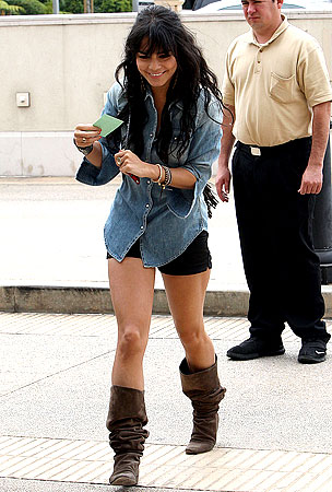 Vanessa Hudgens Shorts Herself