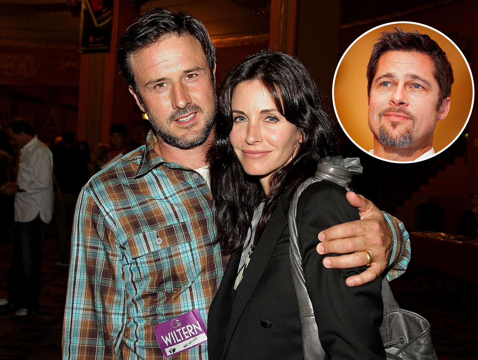 Brad Pitt, David Arquette and Courteney Cox: Cornell, Yes!