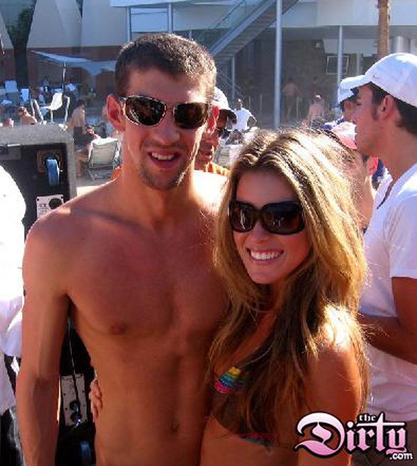 Michael Phelps Parties With Miss California
