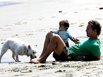 Matthew McConaughey and Levi Are Beach Bums