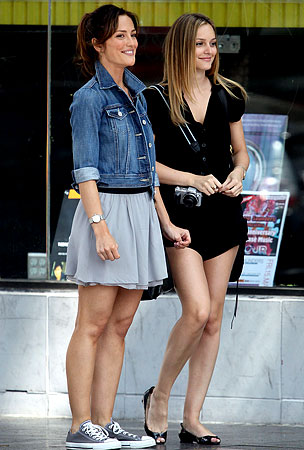 Leighton Meester and Minka Kelly Really Seem to Click Together