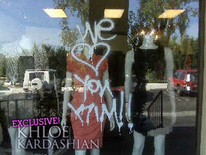 Round 2: The Kardashian's LA Dash Store Vandalized!