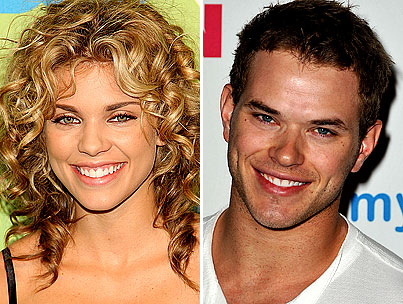 Kellan Lutz and AnnaLynne McCord Kiss and Get Cozy
