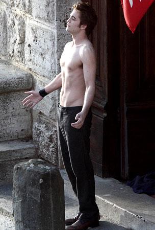 SHIRTLESS PICS of Robert Pattinson!