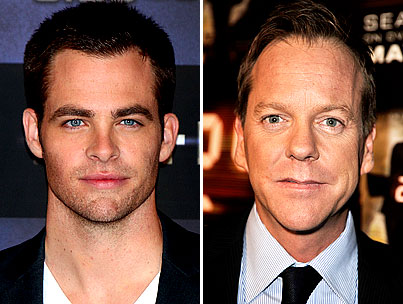 Chris Pine and Kiefer Sutherland to Hand Out Golden Popcorn