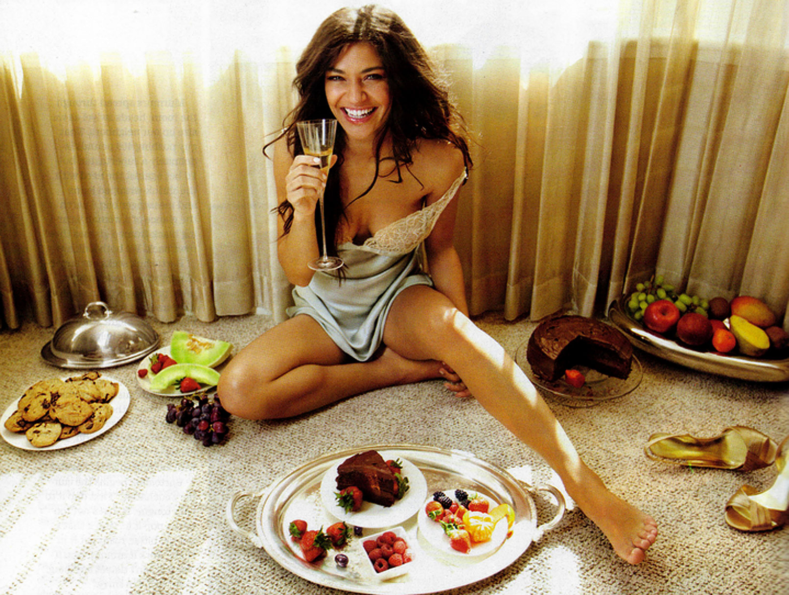 Jessica Szohr Gets Stuffed for Men's Health