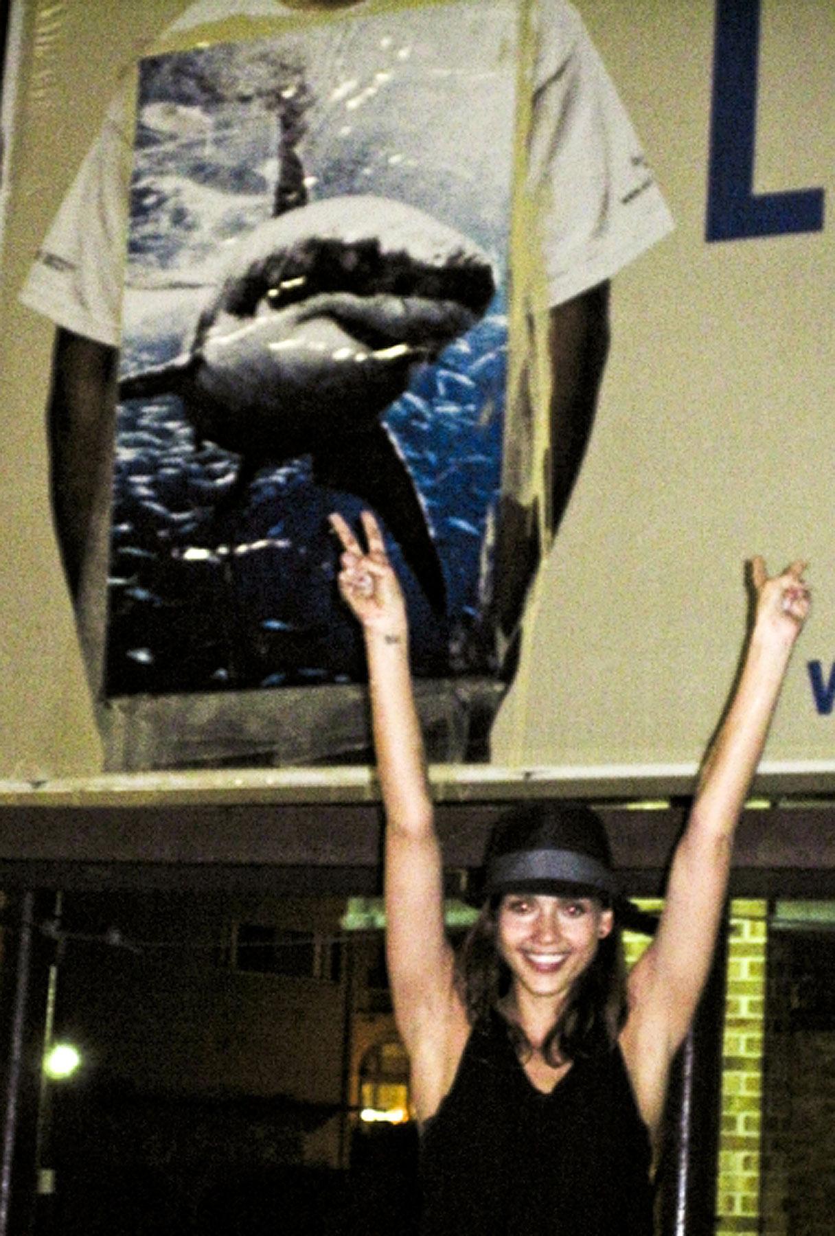 Jessica Alba's Shark-ing Vandalism Spree