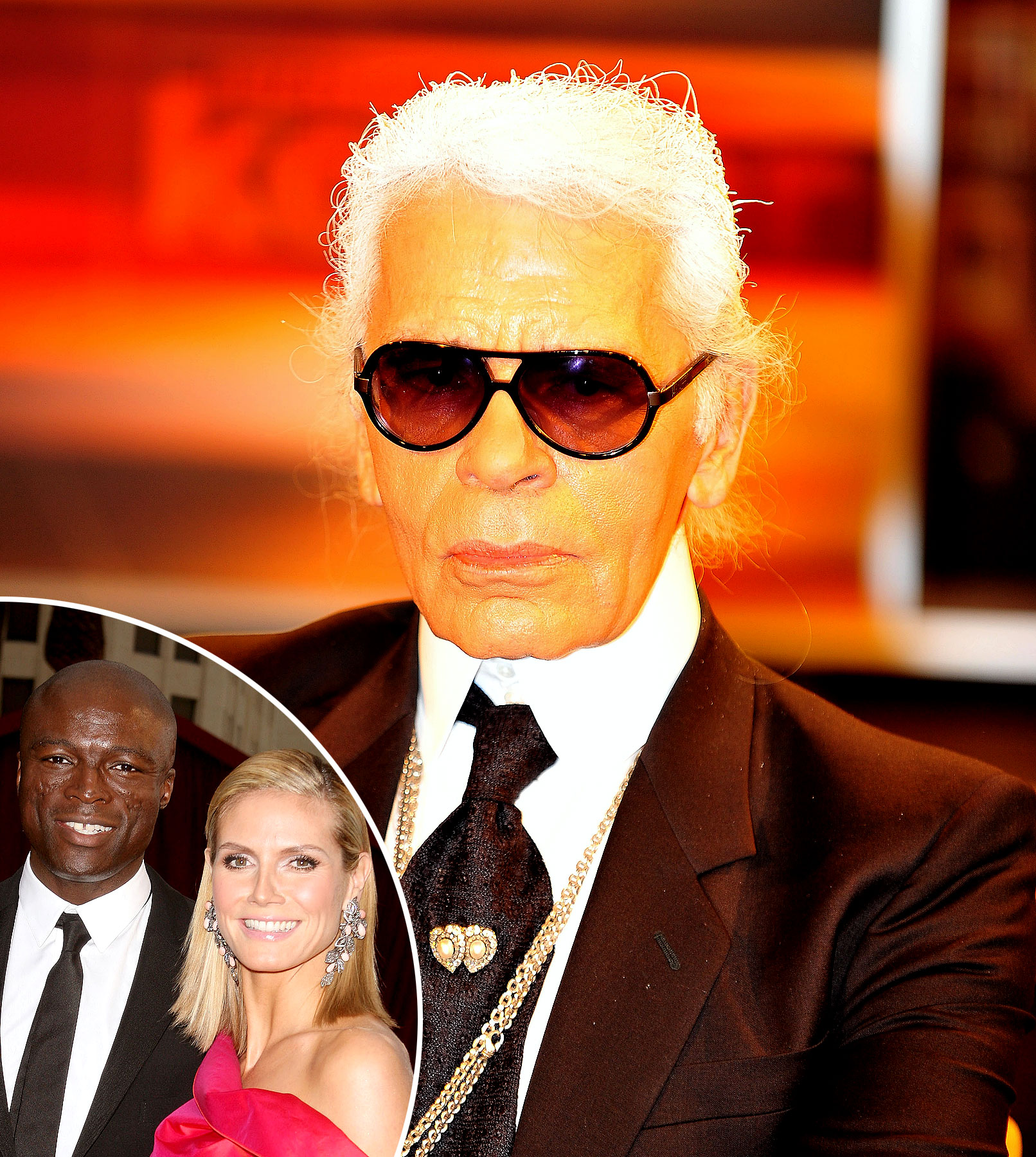Karl Lagerfeld Sinks His Claws Into Heidi Klum and Seal