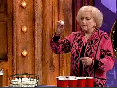 VIDEO: Betty White Needs More Practice at Beer Pong