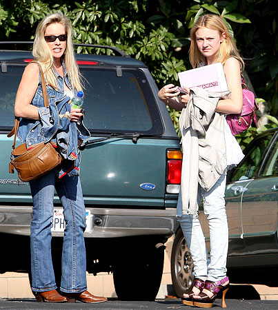 Dakota Fanning With A Cherie On Top!