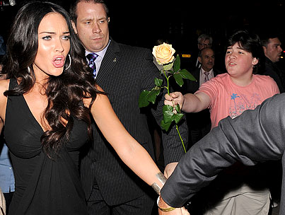 Megan Fox's Rose Boy Gets Blown Off AGAIN!