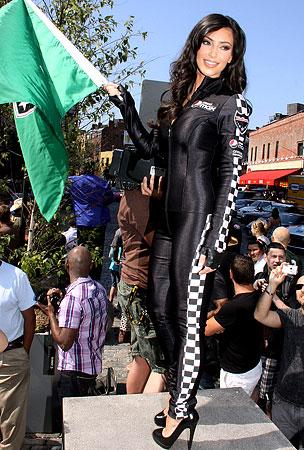 Kim Kardashian Earns Her Stripes