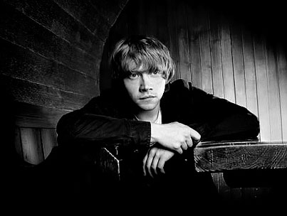 Rupert Grint in Black and White