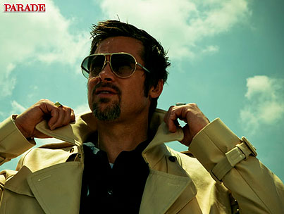 Brad Pitt Isn't Shy For 'Parade'