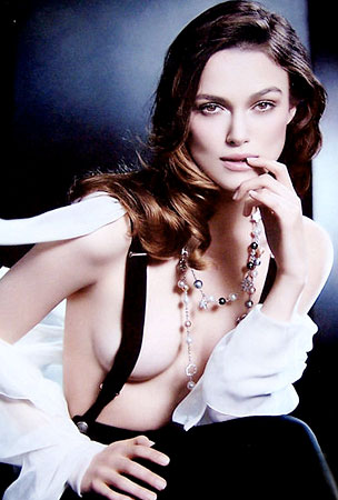 Keira Knightley Blows Her Top Off for Chanel