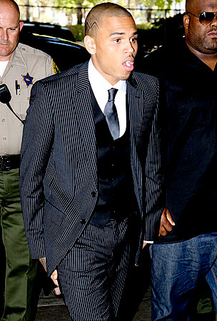 Chris Brown Gets Six Months Community Labor, Five Years Probation