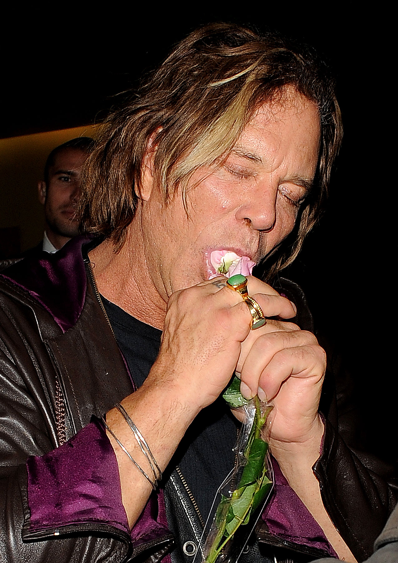 PHOTO GALLERY: Mickey Rourke Eats A Rose