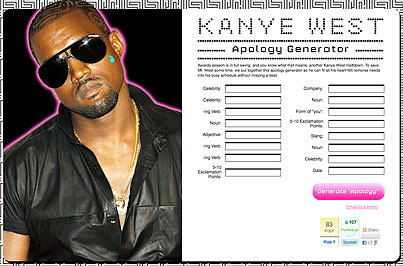 Introducing the Kanye West Apology Generator!