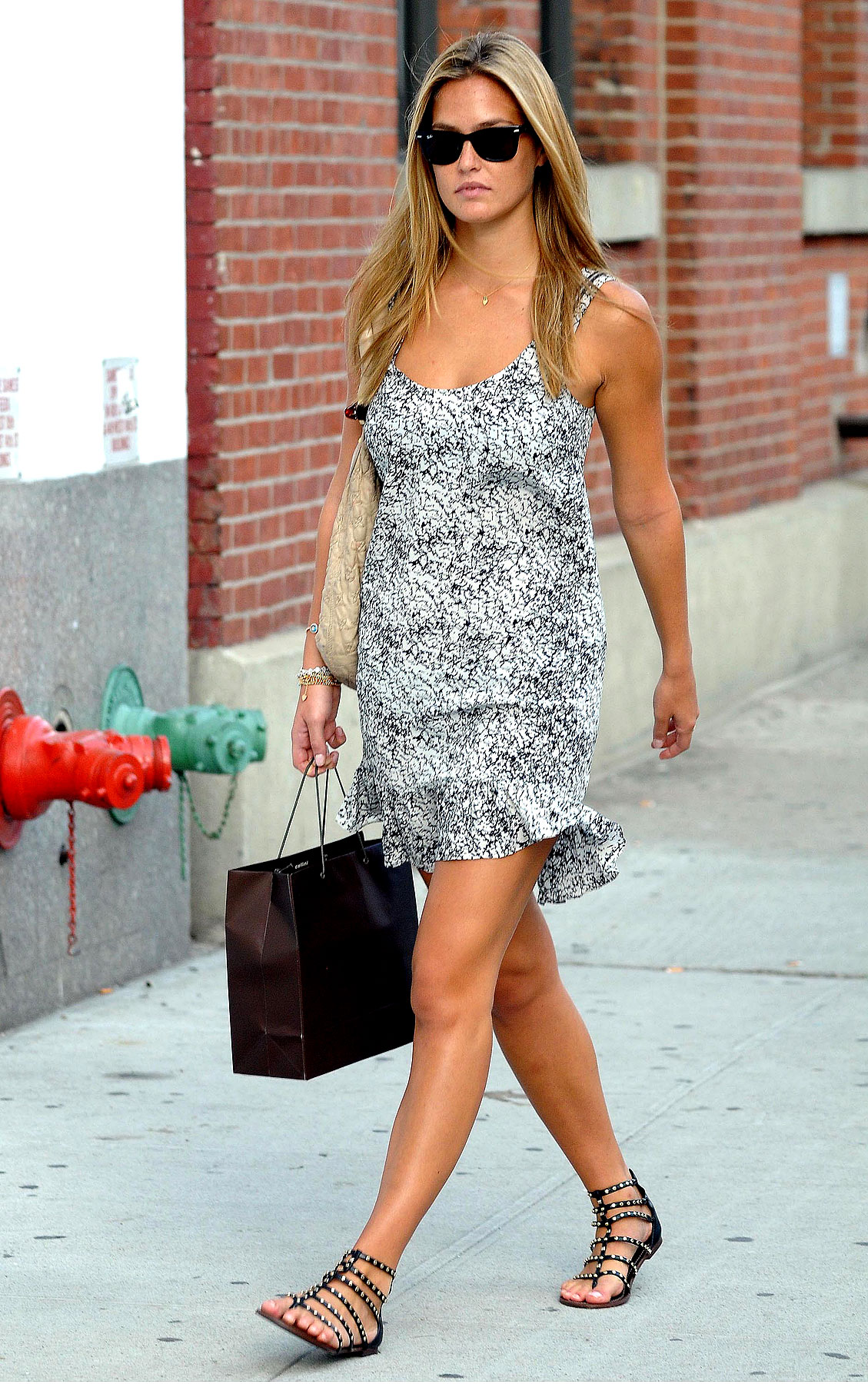 PHOTO GALLERY: Bar Refaeli Lunches at Pastis