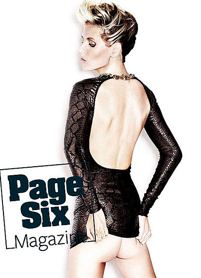 Heidi Klum Bares Butt, Soul for Page Six Magazine