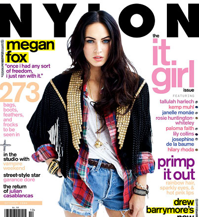 Megan Fox Has Got Nylon Covered