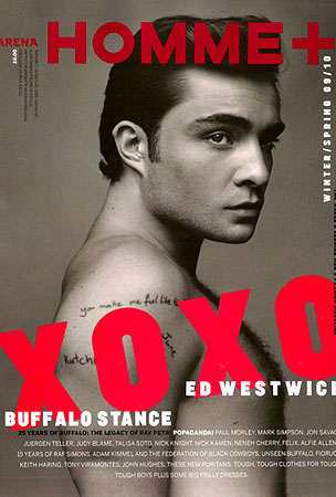 Ed Westwick Is all Shirtless and Stuff in Arena Homme Plus