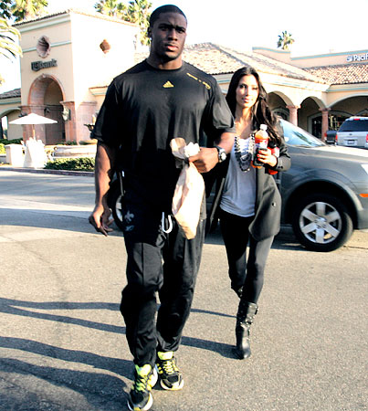 Kim Kardashian and Reggie Bush Eat Fresh