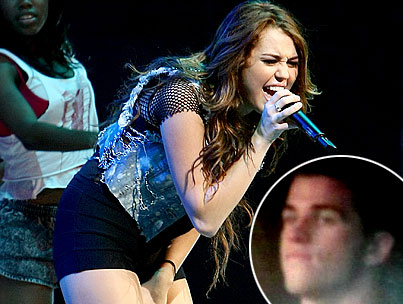 Liam Hemsworth Spotted At Miley Cyrus' Concert