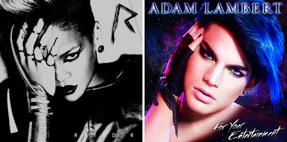 Rihanna and Adam Lambert: Album Cover Face-Off