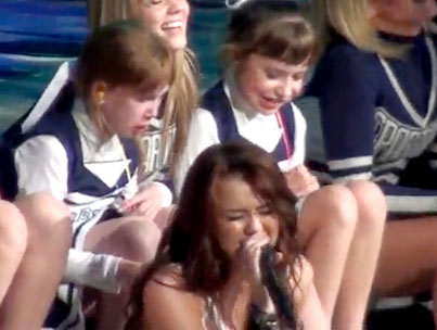 VIDEO: Miley Cyrus Makes A Cheerleader Cry