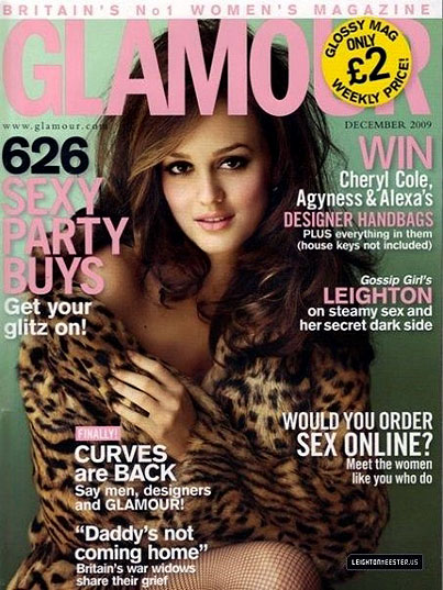 Leighton Meester on the Cover of British Glamour
