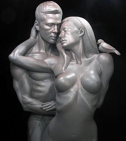 Creepy Brangelina Sculpture Promises to Boost the Libidos of the Horribly Demented