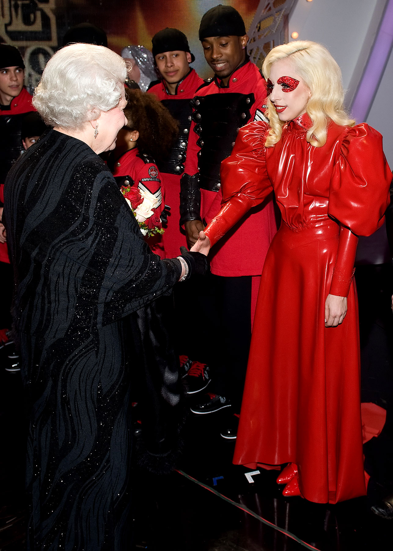 Lady Gaga Meets the Queen, Exposes Major Hole in Royal Family's Security Detail (PHOTOS)