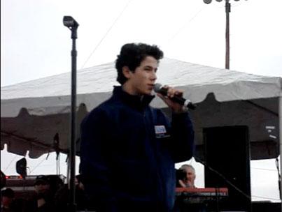 Nick Jonas Dodges Shoe, Launches Presidential Bid During Fort Hood Speech (VIDEO)