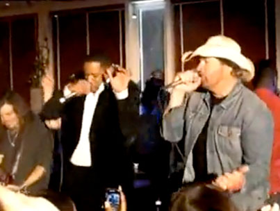 Of Course Toby Keith Is Rapping With Will Smith and Wyclef Jean At A Nobel Peace Prize Party (VIDEO)