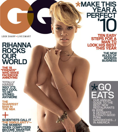 Rihanna Taunts Chris Brown With Half-Naked Hotness in GQ (PHOTOS)