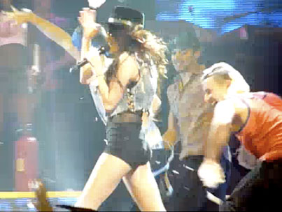 Miley Cyrus Gets Creamed at Her Concert (VIDEO)