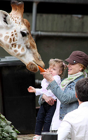 Nicole Kidman and Sunday Rose Feed A Giraffe Because Why Shouldn't They? (PHOTOS)