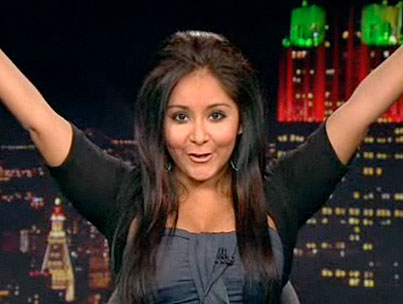 Jersey Shore's Snooki Skips MENSA Meeting to Dis 'Twilight,' Dazzle Us on 'Leno' (VIDEO)