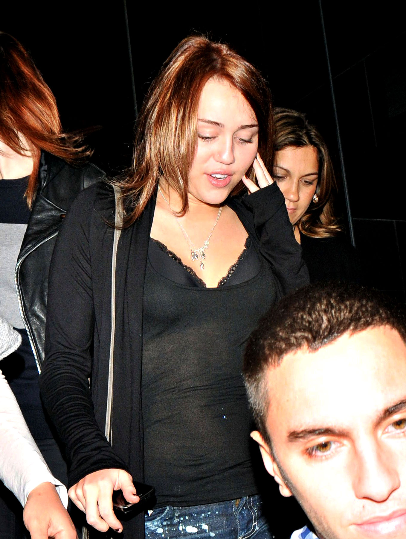 Miley Cyrus and Her See-Through Shirt Want to Know What You're Looking At (PHOTOS)
